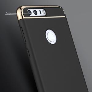 Luxusní odolný obal 3v1 na mobil Honor 8 - černý - 2