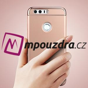 Luxusní odolný obal 3v1 na mobil Honor 8 - zlatorůžový - 2