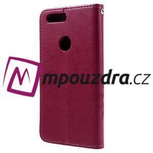 Floay PU kožené pouzdro s kamínky na mobil Honor 8 - rose - 2