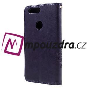 Floay PU kožené pouzdro s kamínky na mobil Honor 8 - fialové - 2