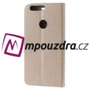 Clothy peněženkové pouzdro na mobil Honor 8 - zlaté - 2