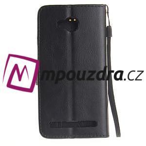 Dandelion PU kožené pouzdro na mobil Huawei Y3 II - černé - 2