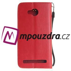 Dandelion PU kožené pouzdro na mobil Huawei Y3 II - červené - 2