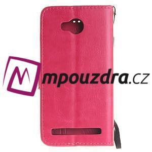 Dandelion PU kožené pouzdro na mobil Huawei Y3 II - rose - 2