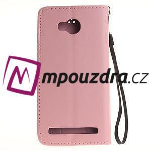 Dandelion PU kožené pouzdro na mobil Huawei Y3 II - růžové - 2