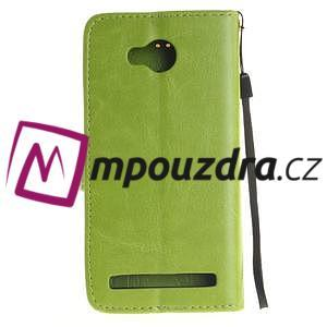 Dandelion PU kožené pouzdro na mobil Huawei Y3 II - zelené - 2
