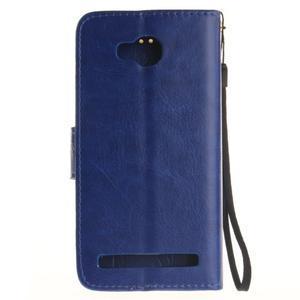 Dandelion PU kožené pouzdro na mobil Huawei Y3 II - modré - 2
