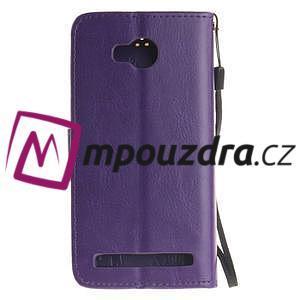 Dandelion PU kožené pouzdro na mobil Huawei Y3 II - fialové - 2
