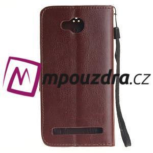 Dandelion PU kožené pouzdro na mobil Huawei Y3 II - hnědé - 2