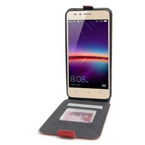 Flipové PU kožené pouzdro na Huawei Y3 II - červené - 2