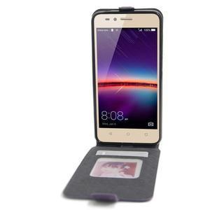 Flipové PU kožené pouzdro na Huawei Y3 II - fialové - 2