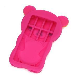 Bear silikonový obal na iPod Nano 7 - rose - 2