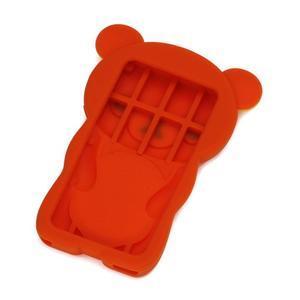 Bear silikonový obal na iPod Nano 7 - oranžový - 2