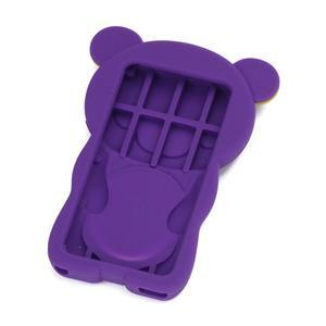 Bear silikonový obal na iPod Nano 7 - fialový - 2