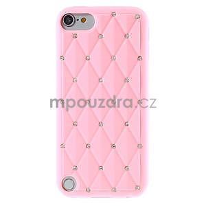 Brite silikonový obal s kamínky iPod Touch 6 / Touch 5 - růžový - 2