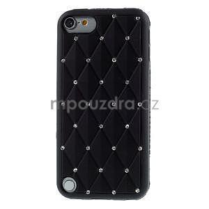 Brite silikonový obal s kamínky iPod Touch 6 / Touch 5 - černý - 2