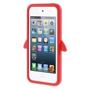 Penguin silikonový obal na iPod Touch 6 / iPod Touch 5 - červený - 2