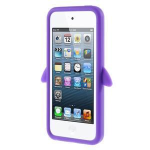 Penguin silikonový obal na iPod Touch 6 / iPod Touch 5 - fialový - 2
