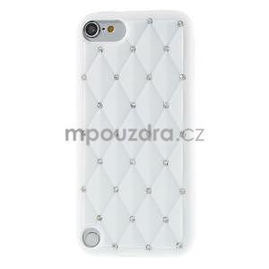 Brite silikonový obal s kamínky iPod Touch 6 / Touch 5 - bílý - 2