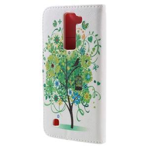 Emotive PU kožené pouzdro na LG K8 - zelený strom - 2