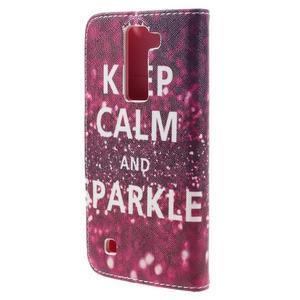 Emotive PU kožené pouzdro na LG K8 - Keep Calm - 2