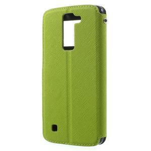 Diary PU kožené pouzdro s okýnkem na LG K8 - zelené - 2