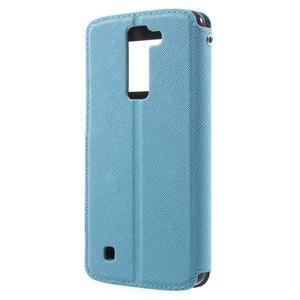 Diary PU kožené pouzdro s okýnkem na LG K8 - světlemodré - 2