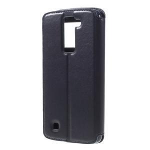 Richi PU kožené pouzdro na mobil LG K8 - tmavěmodré - 2