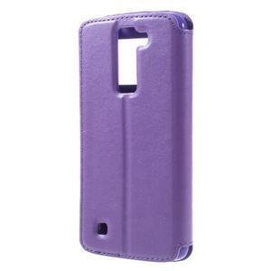 Richi PU kožené pouzdro na mobil LG K8 - fialové - 2