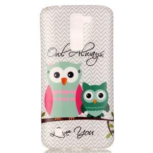 Emotive gelový obal na mobil LG K8 - sovy - 2