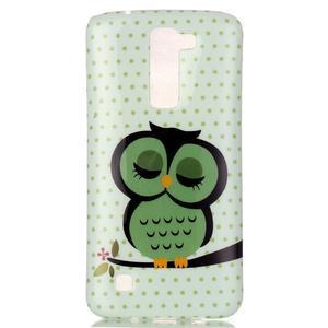 Emotive gelový obal na mobil LG K8 - sova - 2