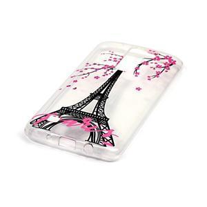 Průhledný gelový obal na telefon LG K8 - Eiffelova věž - 2