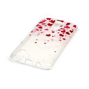 Průhledný gelový obal na telefon LG K8 - srdíčka - 2