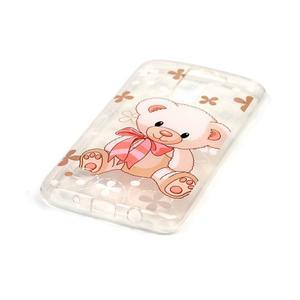 Průhledný gelový obal na telefon LG K8 - medvídek - 2