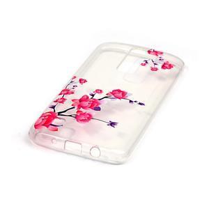 Průhledný gelový obal na telefon LG K8 - kvetoucí větvička - 2