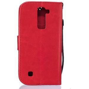 Dandelion PU kožené pouzdro na mobil LG K8 - červené - 2