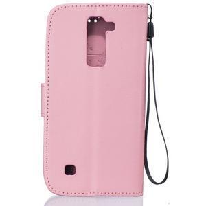 Dandelion PU kožené pouzdro na mobil LG K8 - růžové - 2