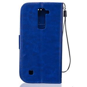 Dandelion PU kožené pouzdro na mobil LG K8 - modré - 2