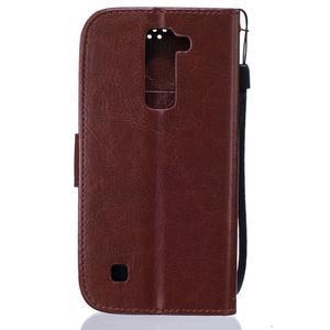 Dandelion PU kožené pouzdro na mobil LG K8 - hnědé - 2