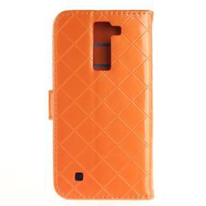 Luxusní PU kožené pouzdro s přezkou na LG K8 - oranžové - 2