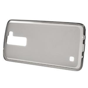Matný gelový obal na mobil LG K8 - šedý - 2