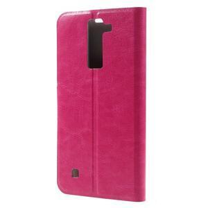 Horse PU kožené pouzdro na mobil LG K8 - rose - 2