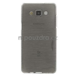 Broušený gelový obal Samsung Galaxy A5 - šedý - 2