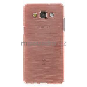 Broušený gelový obal Samsung Galaxy A5 - růžový - 2