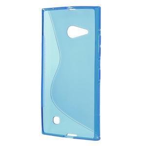 Gelový s-line obal na Nokia Lumia 730 a Lumia 735 - modrý - 2