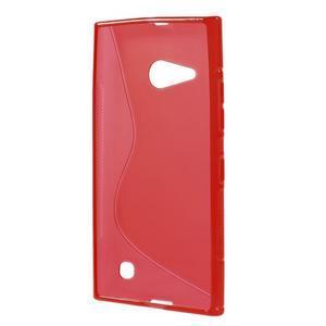 Gelový s-line obal na Nokia Lumia 730 a Lumia 735 - červený - 2