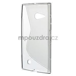 Gelový s-line obal na Nokia Lumia 730 a Lumia 735 - šedý - 2