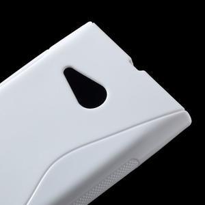 Gelový s-line obal na Nokia Lumia 730 a Lumia 735 - bílý - 2