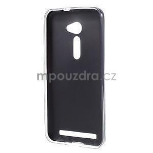 Gelový kryt s imitací kůže Asus Zenfone 2 ZE500CL - černý - 2