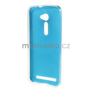 Gelový kryt s imitací kůže Asus Zenfone 2 ZE500CL - modrý - 2